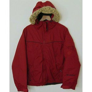 Columbia Small Waterproof Ski Jacket Red Insulate